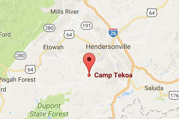 Camp Tekoa Map